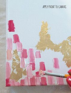How To Make DIY Gold Leaf Abstract Art. Maybe this will help me make an imitation of that expensive painting I've been coveting lol