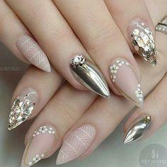 Yes or No?  Via @getbuffednails . . .  #nails #nail #fashion #style #cute #beauty #nailartaddict #beautiful #mode #instagood #pretty #girl #girls #stylish #glam #styles #glitter #nailart #art #opi #photooftheday #essie #preto #branco #rosa #love #shiny #polish #glamlabel #nailswag