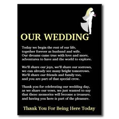 Wedding Thank You Poem Cards Http Www Wedfest Co Instagram