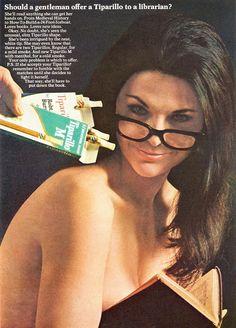 Vintage Ad: Tiparillo, 1967 Librarian!