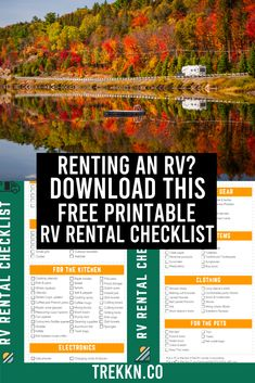 RV Rental Tips & Printable Checklist for a Smooth Maiden Voyage Travel Trailer Living, Small Travel Trailers, Alaska Travel, Rv Travel, Alaska Trip, Travel Hacks, Rv Rental, Boat Rental, Rv Camping Checklist