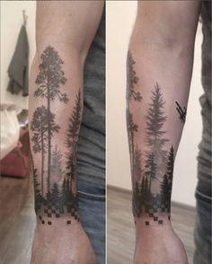 Freshly done, black and gray trees on mans arm. Artist Janis Svars #pines #spruce #trees #wood #tattoo #blackandgray #blackngray #armtattoo #pixel #mantattoo #ariplane #riga #tattooinriga #sporta2 #tattooed #tattooist #tattooart #art #tattooink #ink #inked #skin #tattooartist #tattoofrequency #share #like #follow