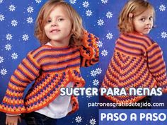 Patrones de sueter para niñas a crochet fácil Baby Girl Crochet, Christmas Sweaters, Arts And Crafts, Victoria, Children, My Style, Pattern, Clothes, Bb