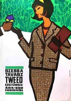 Spring is more beautiful in a tweed costume Artist: Sandor Lengye, 1964
