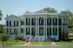 Nottoway Plantation, Louisiana, 1859 - The largest surviving plantation home with 64 rooms in 53,000 sq. ft. - an exquisite antebellum showplace that you can stay overnight in (it's now a B)...