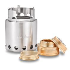 Solo Stove with Backup Solo Alcohol Burner - Light Weight Wood Burning Backpacking & Camp Stove. Great Survival Camp Stove for Emergency Disaster Preparedness, Bug Out Bags, Preppers, Freeze Dried Food Storage.