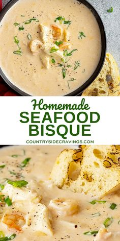 This easy Seafood Bisque is loaded with 3 types of seafood! It's full of flavor and easy enough for a weeknight meal but impressive enough for all your special occasions.