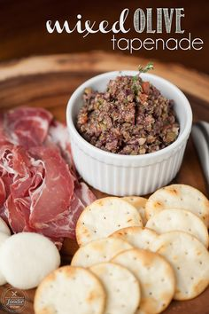 Mixed Olive Tapenade is a quick and easy appetizer that goes perfectly with crusty bread, charcuterie and cheese boards, and a nice bottle of wine. {Self Proclaimed Foodie}