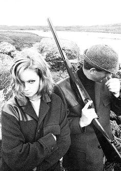 Man About Town, Sept. 2, 1962, Ireland. Models: Celia Hammond, Tim Davis. by Terence Donovan