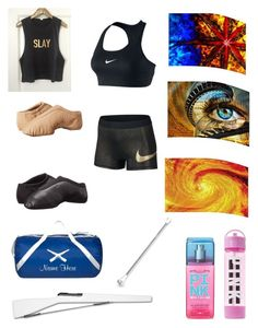"""""""Color Guard"""" by morrigan-elaine on Polyvore featuring RIFLE, Equipment, Bloch, NIKE and Victoria's Secret"""