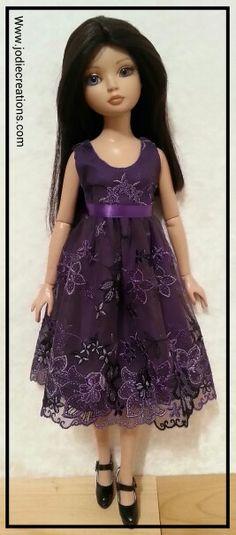 Ellowyne Wilde in purple lace. Www.jodiecreations.com