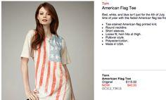 Torn American Flag Tee, $40