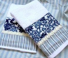 Ralph Lauren PORCELAIN BLUE Fabric  1 Set 2-Custom by Sew1Pretty