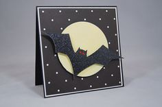 Flying bat Halloween card