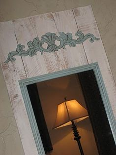 Cheap and easy DIY full length mirror. I should do this for my guest bed.