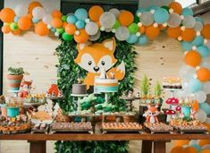 Woodland Baby Shower, Woodland first birthday Baby Shower Backdrop, Baby Boy Shower, Baby Shower Fall Theme, Baby Shower Green, Unisex Baby Shower, Forest Baby Showers, Fox Party, Woodland Baby, Woodland Theme