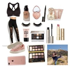 """""""Tessa brooks"""" by lilyanna-miller ❤ liked on Polyvore featuring NIKE, e.l.f., Too Faced Cosmetics, NYX, Vince Camuto, Stila, Ilia, Givenchy, Bella Il Fiore and Smith & Cult"""