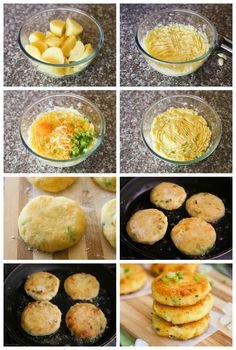 Lovely Cheesy Mashed Potato cakes that are soft from the inside, but golden and crispy from the outside!