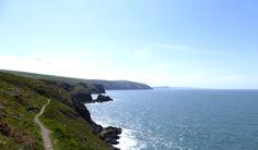 Coast path between Ceibwr Bay and Newport