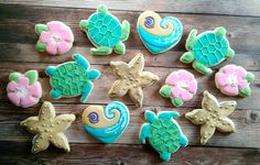 Moana Inspired Birthday Party Sugar Cookies TheIcedSugarCookie.com Sweet Sugarlicious