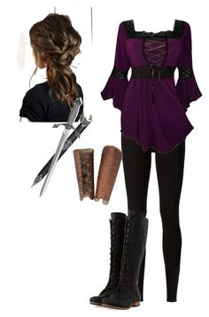 A fashion look from March 2015 featuring plus size corset tops, Rick Owens Lilies and black knee boots. Browse and shop related looks. Old Fashion Dresses, Girls Fashion Clothes, Girl Fashion, Fashion Outfits, Bad Girl Outfits, Mode Outfits, Medieval Fashion, Medieval Clothing, Mode Pirate