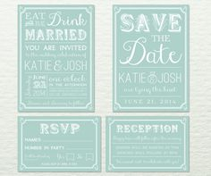 Wedding Invitation Package  Fully Customisable  by designbydetail