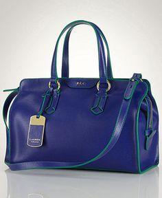 Lauren Ralph Lauren Handbag, Tate Satchel - Handbags & Accessories - Macy's