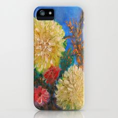 Modern Vintage Yellow Flowers iPhone & iPod Case by Rokin Art by RokinRonda - $35.00