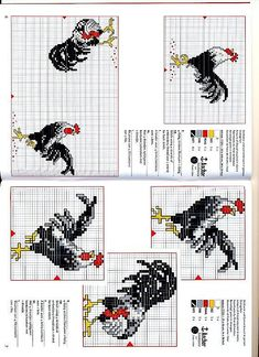 Just Cross Stitch Patterns | Roosters