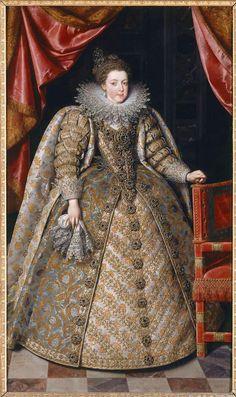 Elisabeth de France, reine d'Espagne, au moment de son mariage, par Pourbus