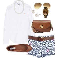 """Anchor Shorts"" by classically-preppy on Polyvore"