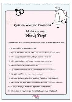 Quiz na Wieczór Panieński Boho Wedding, Wedding Day, Polish Wedding, Batman Wedding, Wedding Planer, Team Bride, Kids Cards, Girls Night, Wedding Decorations