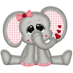 Silhouette Design Store: Be Mine Elephant Valentine Cute Animal Clipart, Cute Clipart, Silhouette Cameo Projects, Silhouette Design, Twig Art, Animal Cutouts, Cartoon Elephant, Blue Nose Friends, Paper Piecing Patterns