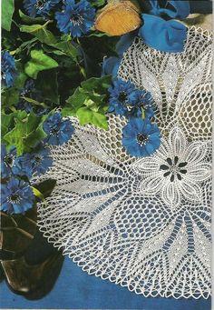 Kira knitting: Scheme knitted tablecloths 30