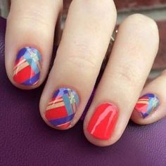 Wow! I love this combo!! Bright colors make me happy!!