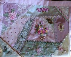 I ❤ crazy quilting, beading & ribbon embroidery . . . Andrea's purse shoulder bag ~By Pat Winter