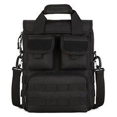 XFreedom EDC Military Tactical Molle Assault Pack Sling Satchel Backpack Gear Handbag Crossbody Compact Utility Carry Bag Shoulder Bag For Hiking Camping Black >>> Visit the image link more details.