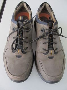 Mens Clarks Unstructured gray grey leather lace up oxfords shoes sz 12M  86311 4f5a7dd9e