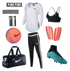 """Soccer Girl⚽️"" by kailey101 ❤ liked on Polyvore featuring adidas and NIKE"