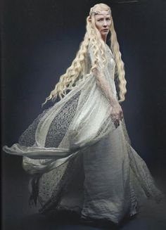 Galadriel. Mightiest of all the Elves that remained in Middle Earth in the third age.