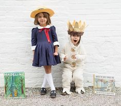 I just love that my kids love to read. So we decided to dress as our favorite storybook characters this Halloween. I just couldn't wait to share. There's no way I won't be bombarding your feed with pictures from this shoot in the next week! Madeline dress by @pippylouboutique | max costume @potterybarnkids