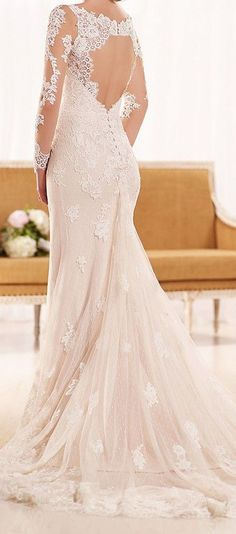 romantic sheath bridal gown