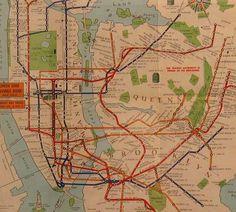 LOVE OLD SUBWAY MAPS!