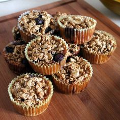 Individual baked oatmeal - looks like a perfect breakfast on-the-go!