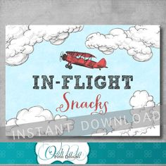 ★★★ INSTANT DOWNLOADS ARE SOLD AS IS ★★★ Coordinates with the vintage airplane baby shower or birthday invitation in my shop, which can be purchased separately here: BABY SHOWER: https://www.etsy.com/listing/467463133/vintage-airplane-baby-shower-invitation BIRTHDAY: https://www.etsy.com/listing/455971898/vintage-airplane-invitation-first *** This listing is for a Digital File in High Resolution 300 dpi; PDF (NON-EDITABLE). This is a DIY ...