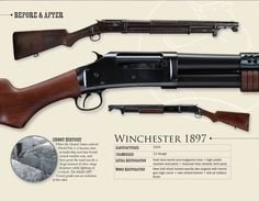 Winchester 1897, Combat Shotgun, Hog Hunting, Firearms, Shotguns, Home On The Range, Cool Guns, Military Weapons, Old West
