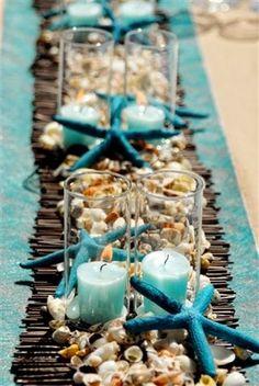 Beach Wedding Centerpieces | http://simpleweddingstuff.blogspot.com/2014/04/beach-wedding-centerpieces.html