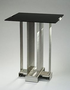Table  Walter von Nessen (American (born Germany) Berlin 1899–1943 Wiscasset, Maine)  Manufacturer: Nessen Studio, Inc., New York Date: 1930 Medium: Aluminum, Bakelite