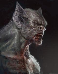 Vampire by Manzanedo on DeviantArt Dark Creatures, Creatures Of The Night, Mythical Creatures, Monster Art, Fantasy Monster, Tableau Pop Art, Vampire Art, Vampires And Werewolves, World Of Darkness
