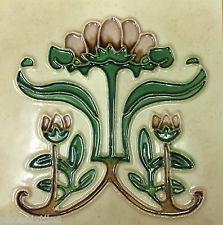 10 Fabulous Art Nouveau Mission Fireplace Tiles Majolica Tubelined Perfect NR Art Nouveau Tiles, Art Nouveau Design, Azulejos Art Nouveau, William Morris Art, Tile Art, Tile Mosaics, Vintage Tile, Art Nouveau Jewelry, Pottery Painting